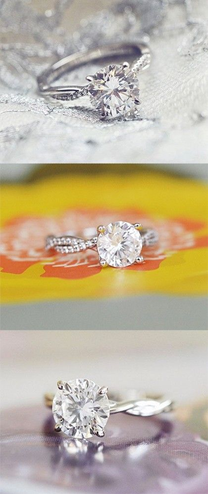 Love these nature-inspired diamond engagement rings.