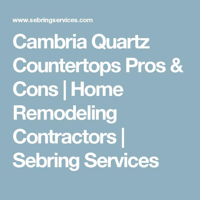 Cambria Quartz Countertops Pros & Cons | Home Remodeling Contractors | Sebring Services