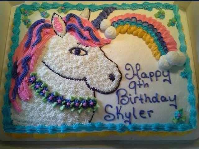 Unicorn Birthday Cake Buttercream Icing Cara S Cakes