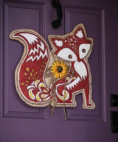 Look what I found on #zulily! Whimsical Fox Wall Decor #zulilyfinds
