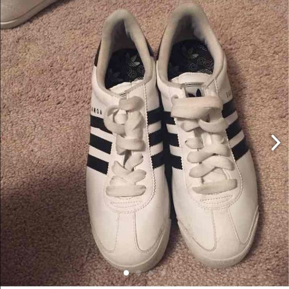 Adidas somas Black and white shoes Shoes