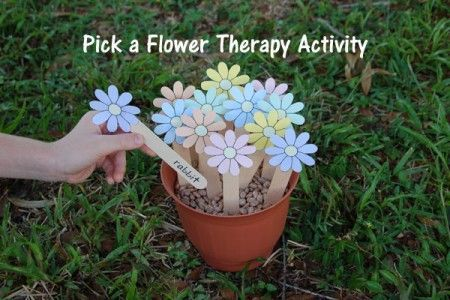 Speech Therapy Ideas: Pick a Flower Therapy Activity.