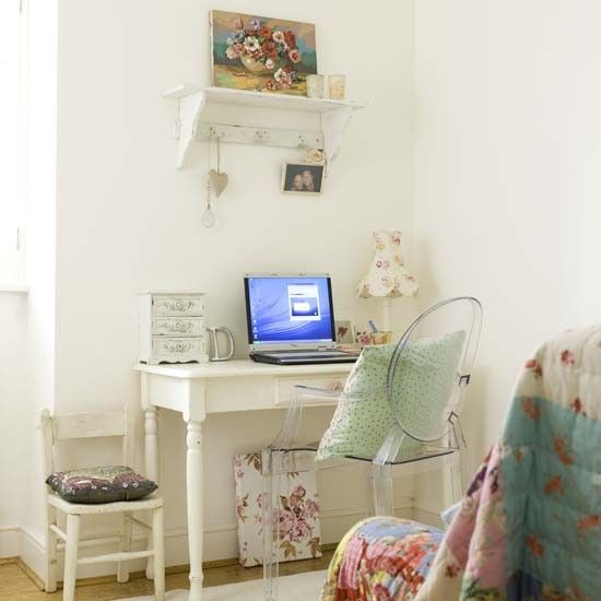 Vintage-style home office | Country style home office ideas | Home office | PHOTO GALLERY | Ideal Home | Housetohome.co.uk