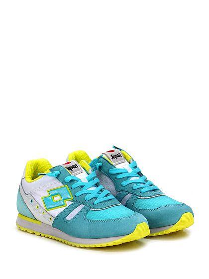 LOTTO LEGGENDA - Sneakers - Donna - Sneaker in pelle, camoscio e tessuto con suola in gomma. Tacco 20, platform 15 con battuta 5. - TURCHESE\BIANCO - € 90.16