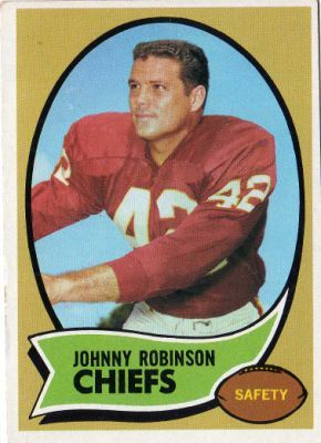 Johnny Robinson chiefs football cards | KANSAS CITY CHIEFS - Johnny Robinson #129 TOPPS 1970 (Orange Back) NFL ...
