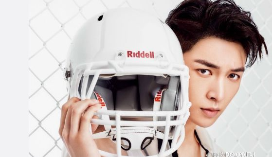 EXO's Lay gives 'Fantasy Football' a whole new meaning in China's 'Cosmopolitan' + making film!   Koogle TV