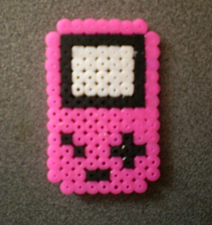Game boy rosa Hama (Evantares) Tags: pink boy game ikea beads patterns nintendo rosa pocket hama patrones plantillas pyssla evantares