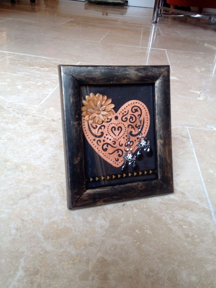 Rustic Heart Picture Frame Wall Hanging Wall Art Home Decor by IantheFrames on Etsy