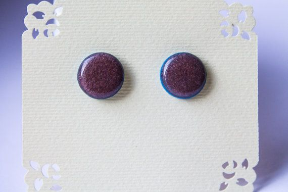 Pearl Cherry earrings sparkle studs glossy studs от JewelryBest