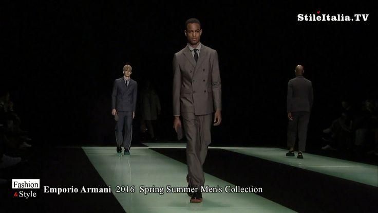 """Italian fashion"" - ""Emporio Armani"" -  ""2016 Spring Summer"" - ""Italian ..."