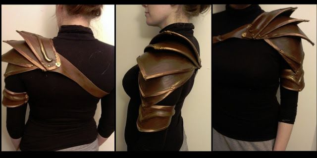 Easy and cheap DIY Elvish Pauldron armor. I'm about to just dress up as an elf for Halloween...