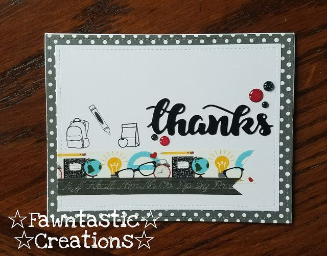 ☆ Fawntastic Creations ☆  strawberry jude stamps  create a smile dies  teacher thanks