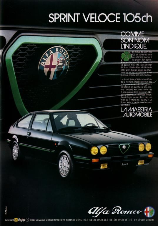 Alfa Romeo Sprint Veloce 1.7 QV 1983. I had this car for some years. Very beautiful! My next was 33QV