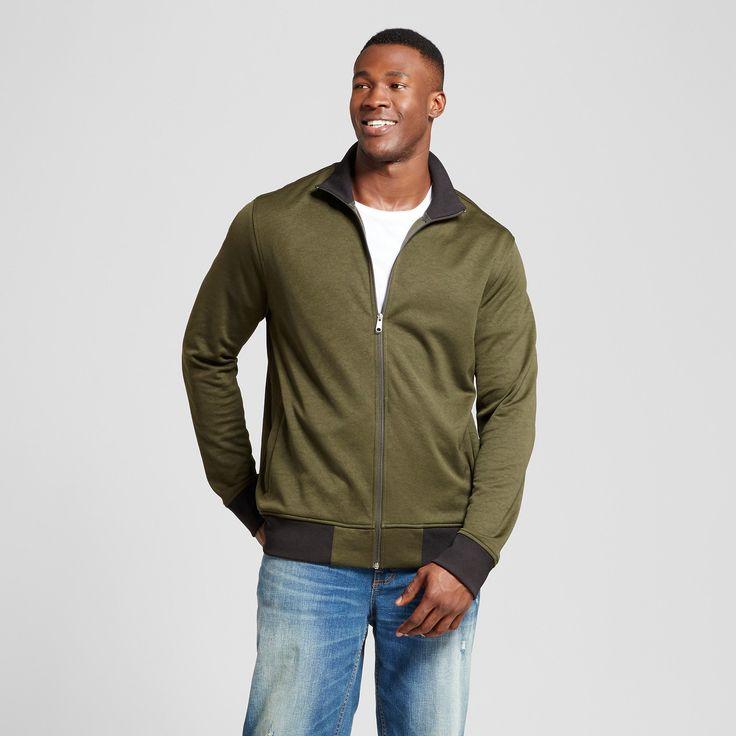 Men's Big & Tall Standard Fit Activewear Track Jacket - Goodfellow & Co Green 3XBT