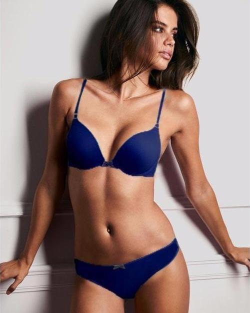 39e16a0cf34e Victoria's Secret – Blue Single Padded Bra And Panty Set - Bra Panty Sets -  diKHAWA Online Shopping in Pakistan