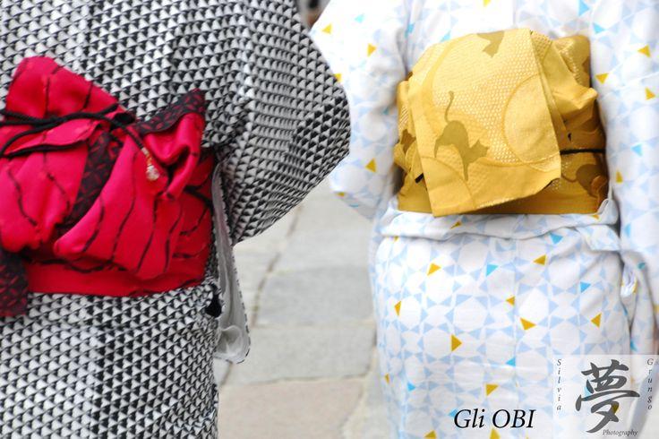 Focus on the red and on the yellow OBI  #japan #kimono #obi