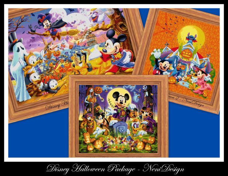 Disney Halloween Package - cross stitch pattern - PDF pattern - instant download!