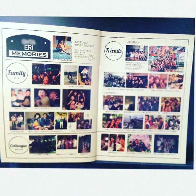 * プロフブックの中身について♡3 * プロフブックの7.8.9.10ページ目は 旦那氏、私それぞれ 見開き2ページずつにゲストたちとの 思い出の写真を入れました! * 基本的にはお互いゲスト全員が どこかに入るように作ってます♡ (どうしても写真が無い人が数名ほどいましたが。。) * * カテゴリーは 「家族」「友達」「職場」に分けて 写真を載せています☆ 結構喜んでいただけました! 特に家族や友だちは思い出話で 盛り上がってくれてました☺️ * * #プロフィールブック #プロフブック #席次表 #メニュー表 #結婚式準備 #プレ花嫁 #プレ花嫁卒業 #結婚式レポ #ウェディングレポ #cocoismDIY