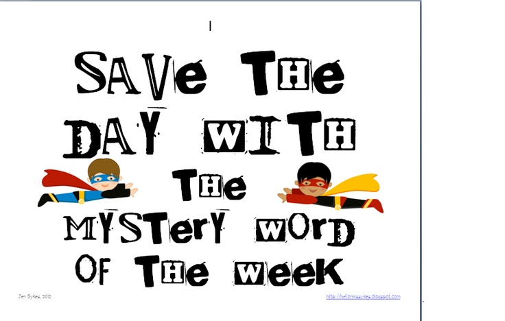 Hello Mrs Sykes - Resources for Teachers: Mystery Word of the Week Throughout the Year! 40 weeks included.Introducing Student, Mysteries Words, Superhero Ideas, Boost Vocabulary, Superhero Classroom, Reading Ideas, Packets Include, 40 Weeks, Weeks Include