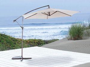 Sombrilla aluminio lateral 3mt café. - OUT ZEN me encanta ideal para tomar tecito en la terraza estos dias de calor #MiJardinPerfecto! #Primavera #Deco #Terraza # #Hogar #easychile #easytienda #easy #Concurso #Jardin #Zen