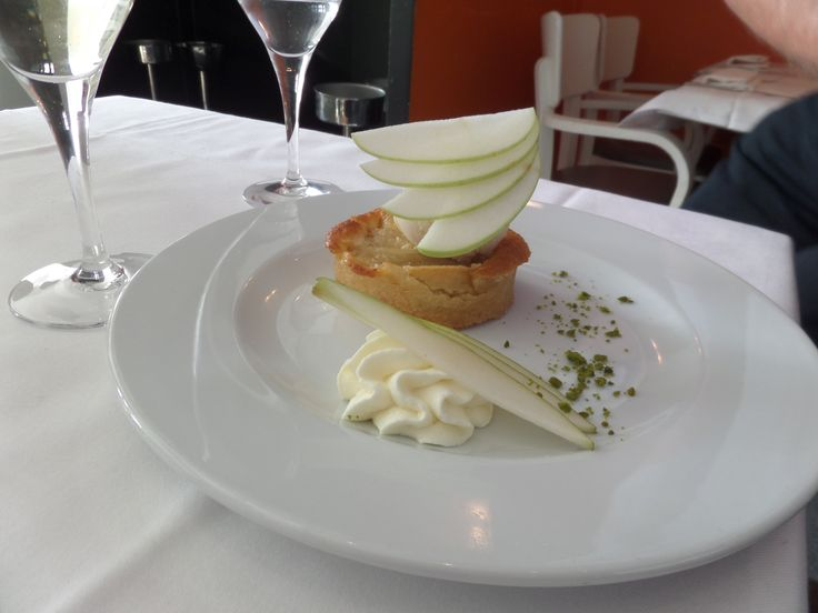 Classic and yummy Pear Tart from the restaurant in Lille.