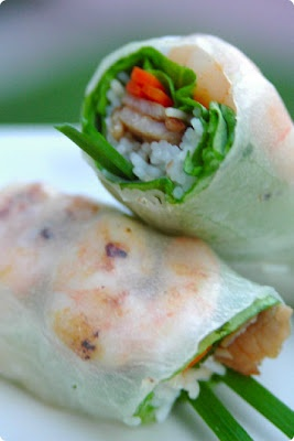 vietnamese recipe blog - Goi Cuon (summer rolls). i could easily eat asian food every day for the rest of my life.