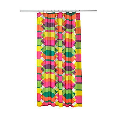 IKEA - LILLSKÄR, Duschvorhang, Dichtes Polyestergewebe mit Wasser abweisender Oberschicht.</t><t>Eingenähtes Gummiband im Saum sorgt durch sein Gewicht dafür, dass der Duschvorhang gerade hängt.