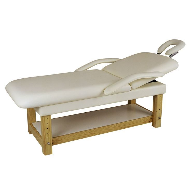 Dual Purpose Facial + Massage Treatment Table/Bed Beige Vinyl is an adjustable table. #massage #esthetician #ad