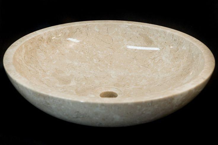 Marmurowa umywalka Belok White - Panele i płytki kamienne, kamień elewacyjny, umywalki, wanny