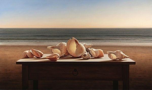 Seashells, 60 x 100 cm, oil on canvas