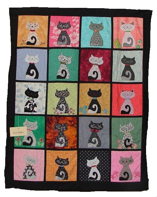 Curly Cat Tails quiltbsswebsite.com: Cats Cats, Applies Quilts, Cats Quilts, Beautiful Quilts, Baby Quilts, Quilts Cats, Cat Crafts, Cat Quilts