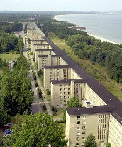 """""""Kraft durch Freude"""": A New Life for a Behemoth of the Nazi Era - NYTimes.com Jens Koehler/Agence France-Presse - Getty Images The so-called Colossus of Prora, begun by Hitler and completed after the war by East Germany."""