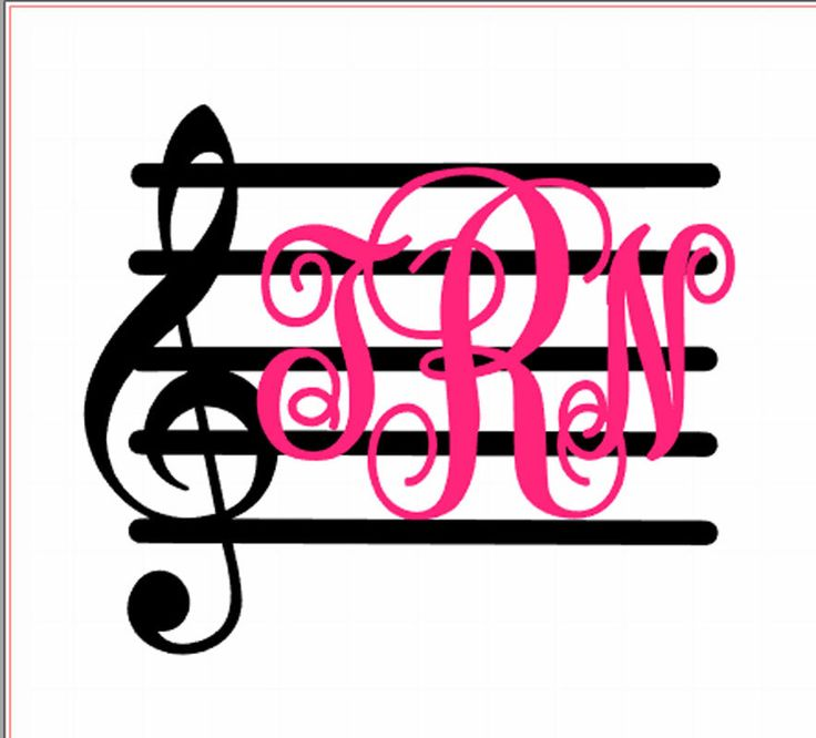 Music Monogram; Treble Clef Monogram; Music Staff monogram, Custom Car Decal, personalized decal, by SouthernMissVinyl on Etsy https://www.etsy.com/listing/237344630/music-monogram-treble-clef-monogram