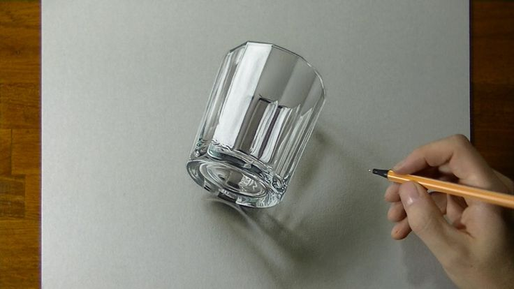 3D Drawing of a glass by Marcello Barenghi http://www.marcellobarenghi.com ➜ FACEBOOK https://www.facebook.com/MarcelloBarenghi ➜ INSTAGRAM https://instagram...
