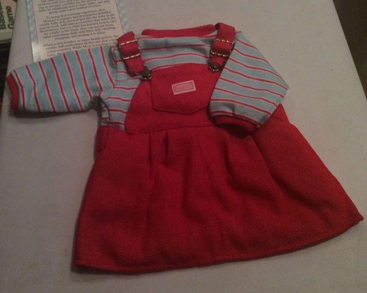 Pleasant Company Our New Baby Red Overalls (Skirt) w/ Tee - 26600 - MIB #PleasantCompany