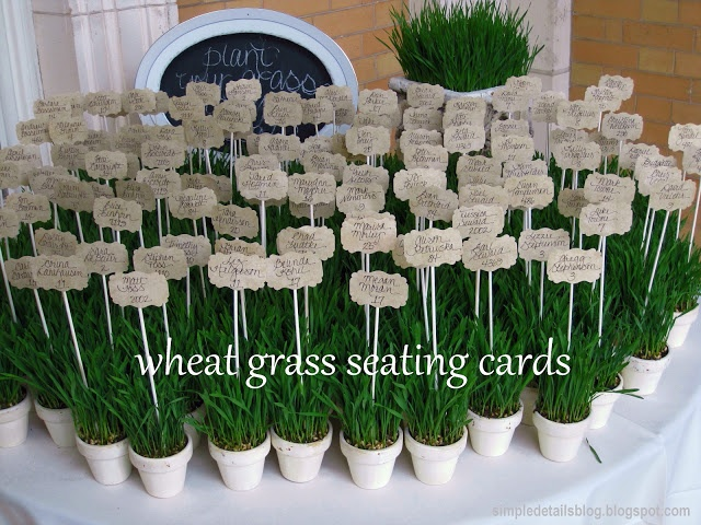 wheat grass seating cards
