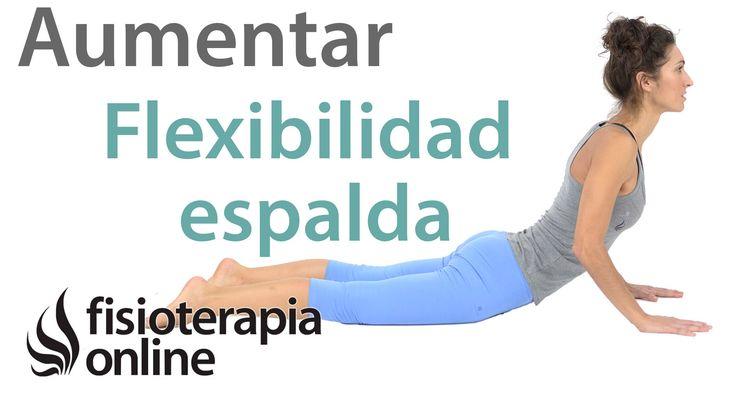 Te mostramos en este vídeo una rutina de ejercicios automasajes y estiramientos para mejorar la flexibilidad de la espalda