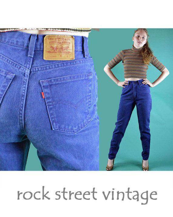 80s Vintage Levi Levis 512 High Waist Jeans by rockstreetvintage