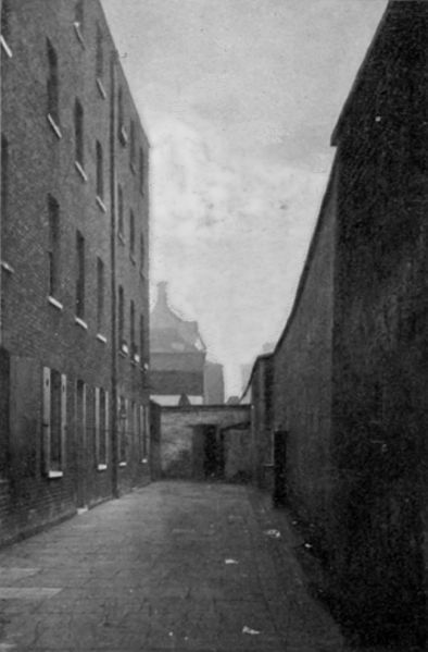 The infamous Marshalsea prison in London around 1897, after it had closed.