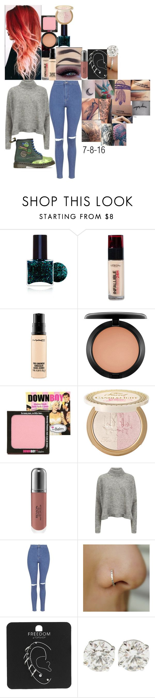"""Don't threaten me with a good time tour diary hamburg"" by fuckmeirwin ❤ liked on Polyvore featuring ncLA, L'Oréal Paris, MAC Cosmetics, TheBalm, Power of Makeup, Revlon, Designers Remix, Topshop and Dr. Martens"