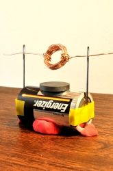 How to Make a Simple Electric Motor - I really like the idea of using large pins for supports - for a quick demo could save time. Education.com