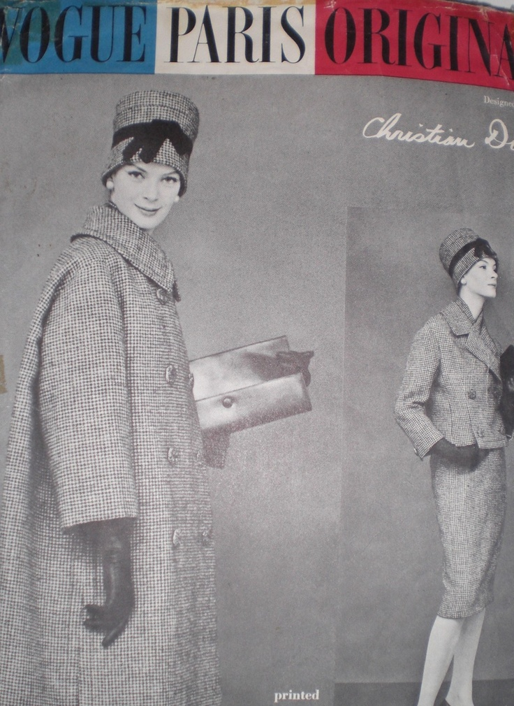 Christian Dior Vintage Vogue Pattern 1472. $10.00, via Etsy.