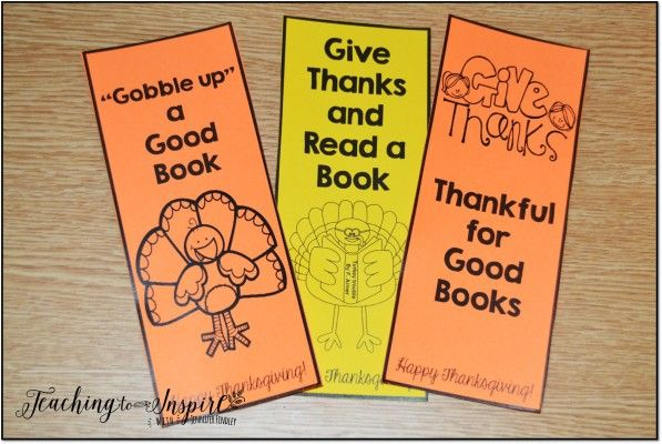 FREE Thanksgiving Themed Bookmarks
