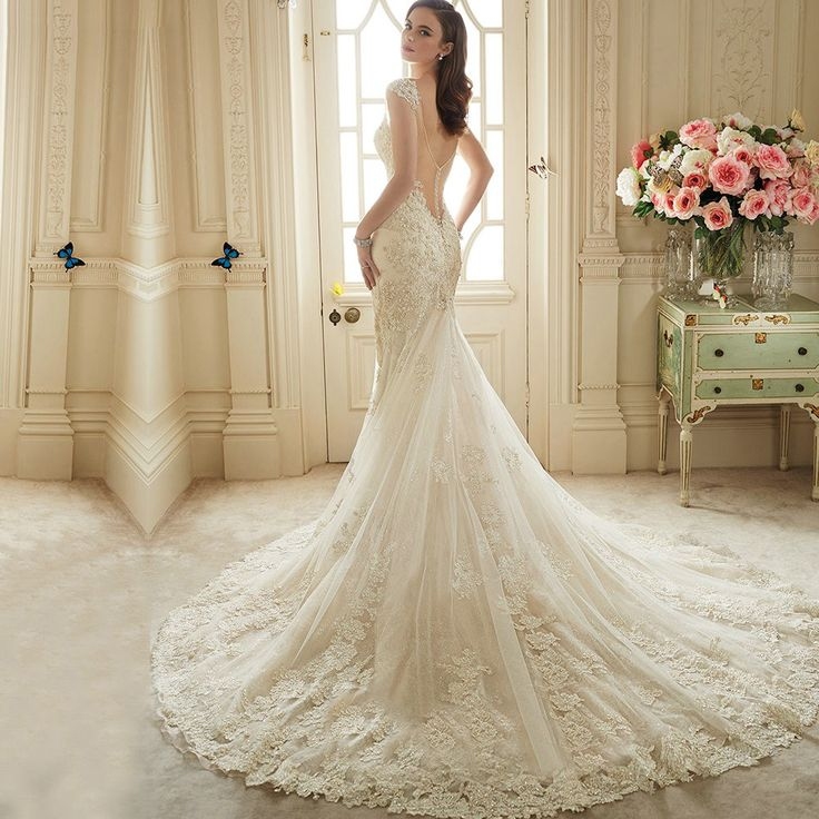 Cheap gown women, Buy Quality dress 2013 directly from China gown Suppliers: Vestido De Noiva Renda 2016 Vintage Lace Backless Wedding Dresses Bride Sexy Mermaid Civil Wedding Gowns 2016 Vestidos