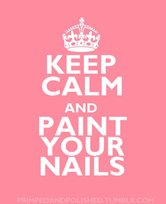 Keep calm and paint your #nails