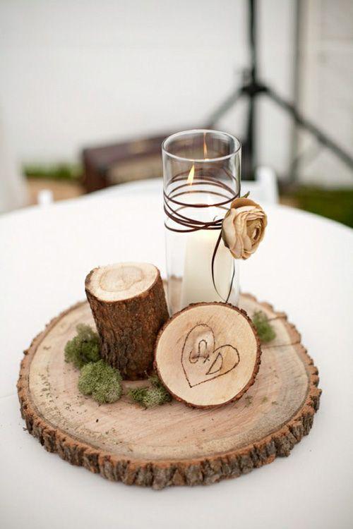 rustic lantern centerpiece   Alternative Ideas for Wedding Centerpieces