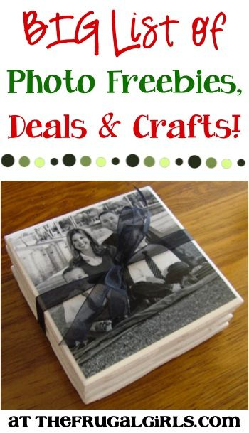BIG List of Photo Deals, Freebies, and Crafts! ~ from TheFrugalGirls.com {get inspired with loads of fun ideas that make great gifts, too!} #thefrugalgirls