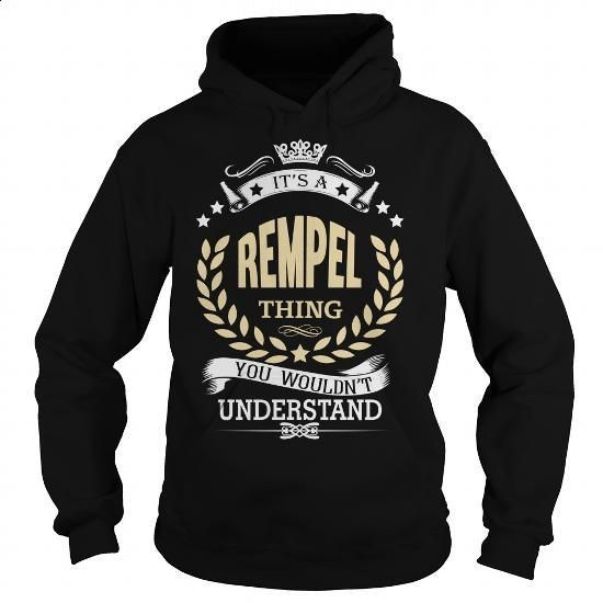 REMPEL - #mens shirt #hoodie womens. CHECK PRICE => https://www.sunfrog.com/Names/REMPEL-106787013-Black-Hoodie.html?60505