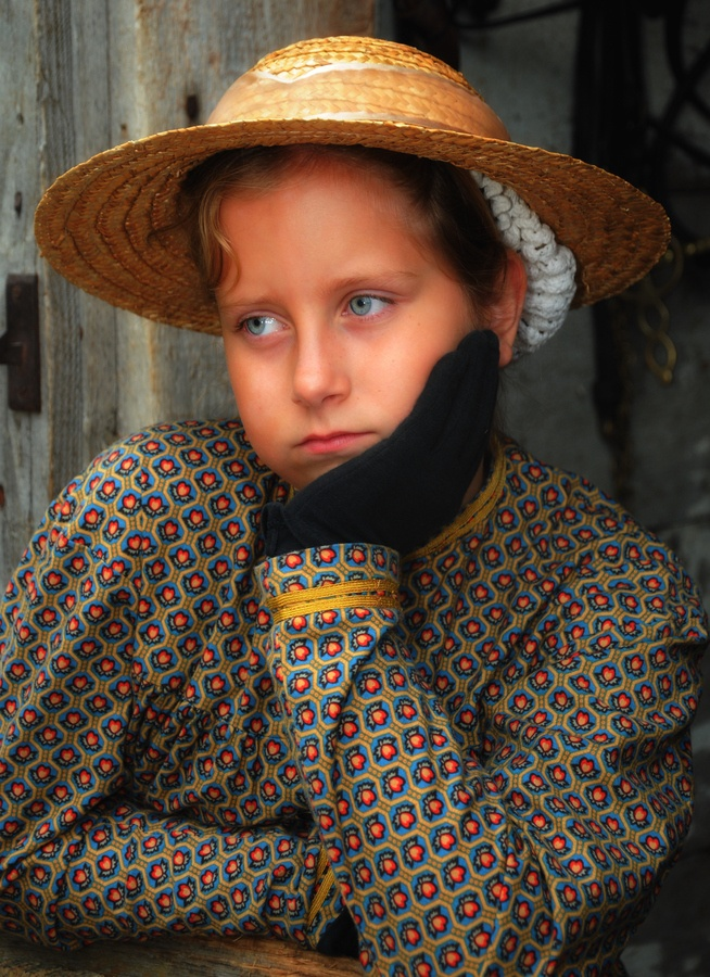 Portrait of a Young Lady, shot at Upper Canada Village, Aug. 2011.