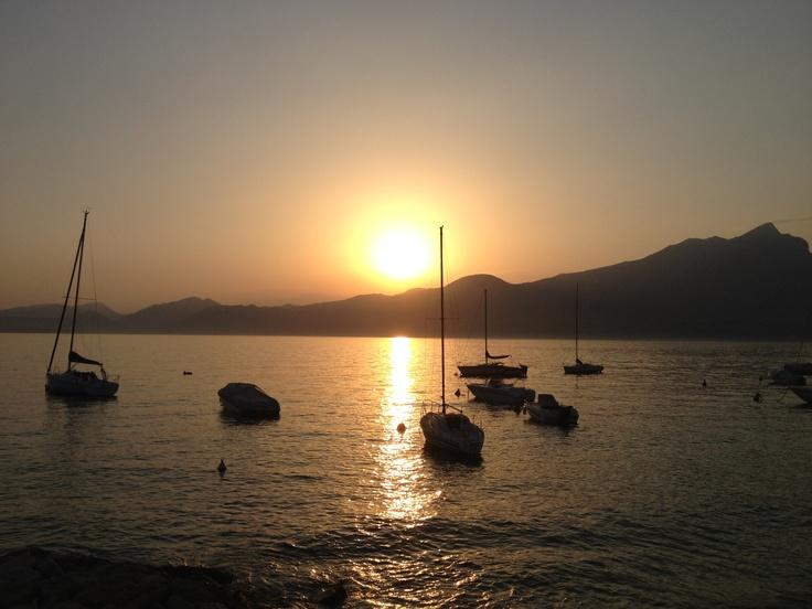 Sunset at Torri del Benaco (Italy) #gardaconcierge www.gardaconcierge.com